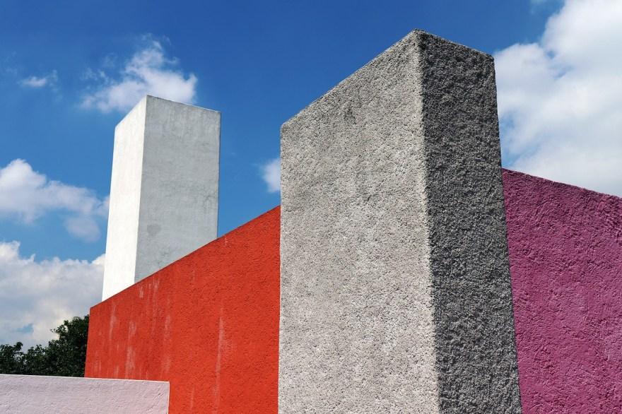 Imagen de una fachada de una casa arquitecto barragán