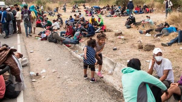 migracion migrantes menores de edad , niñas migrantes, migracion caravana migrante hondureña