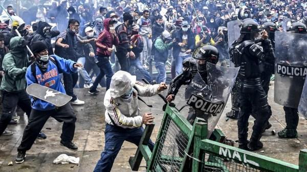 COLOMBIA protestas por ley tributaria