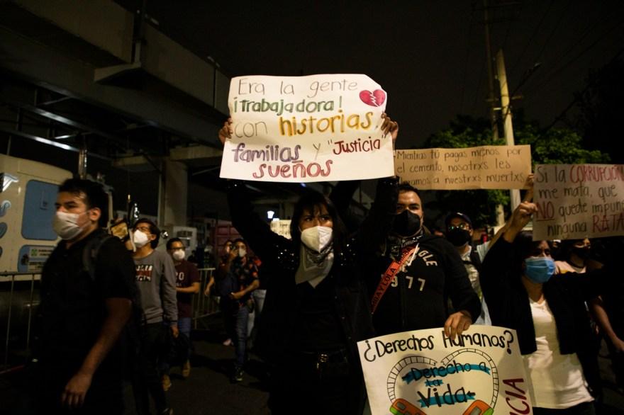 metro olivos accidente protesta méxico