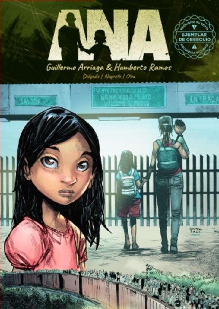 Foto de la portada del comic Ana, de Guillermo Arriaga