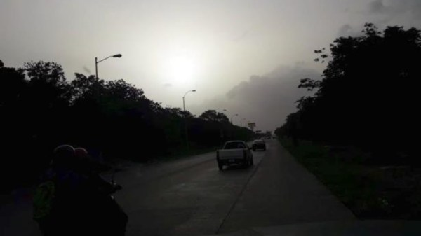 Foto de un anube de polvo del sahara