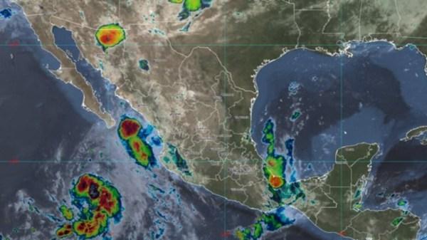 Foto de la trayectoria de la tormenta tropical Guillermo