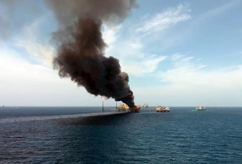 Foto de la explosión en pemex