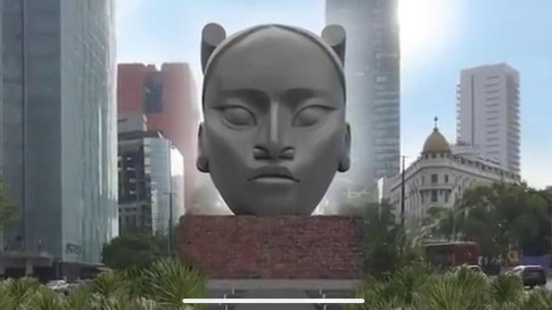 Tlali, escultura de Pedro Reyes