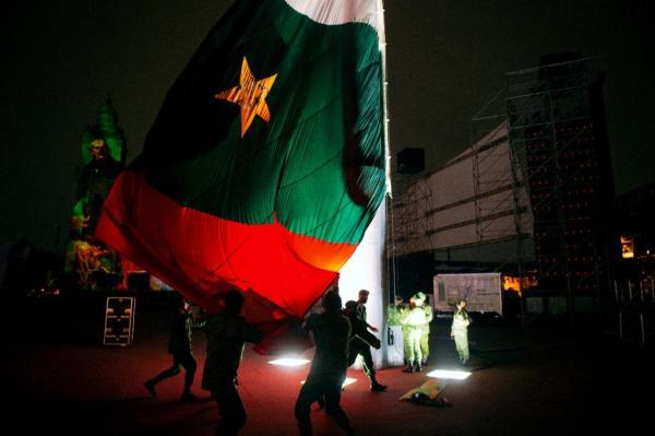 El Ejército Trigarante 'entra' al Zócalo para celebrar 200 años de la consumación de la Independencia