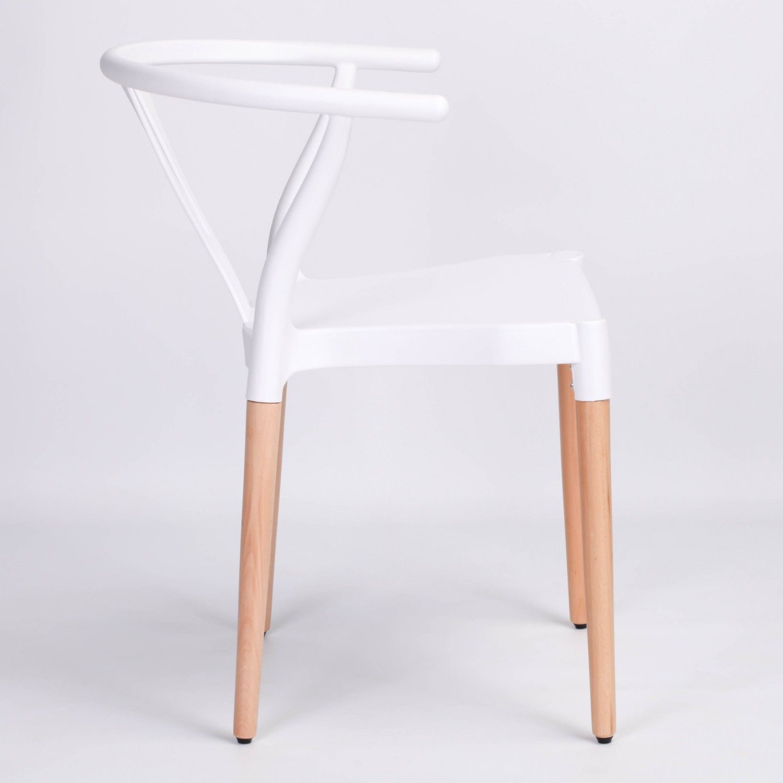 White Dining Chairs Wishbone Open Back White Dining Chair