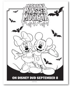 Mickeys Monster Musical Coloring Sheet