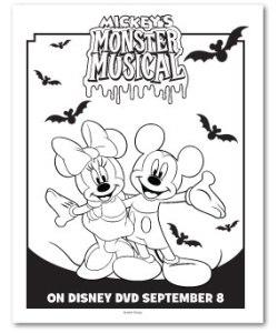 Mickeys Monster Musical Coloring Sheet