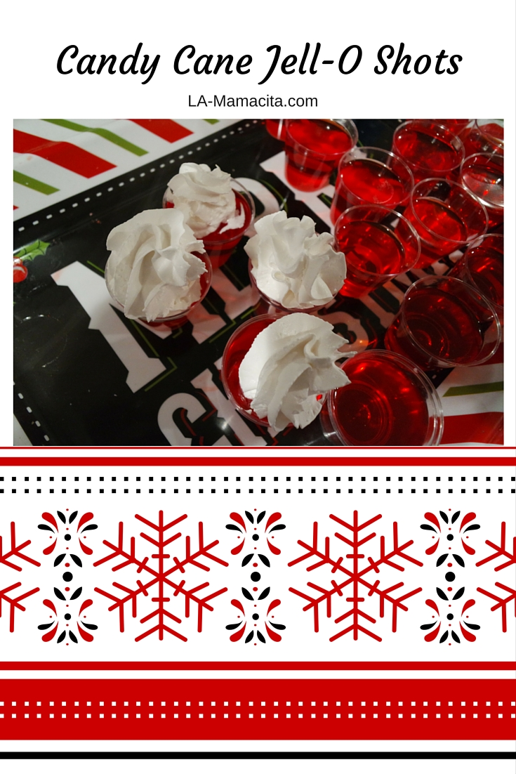 Candy Cane Jello Shots