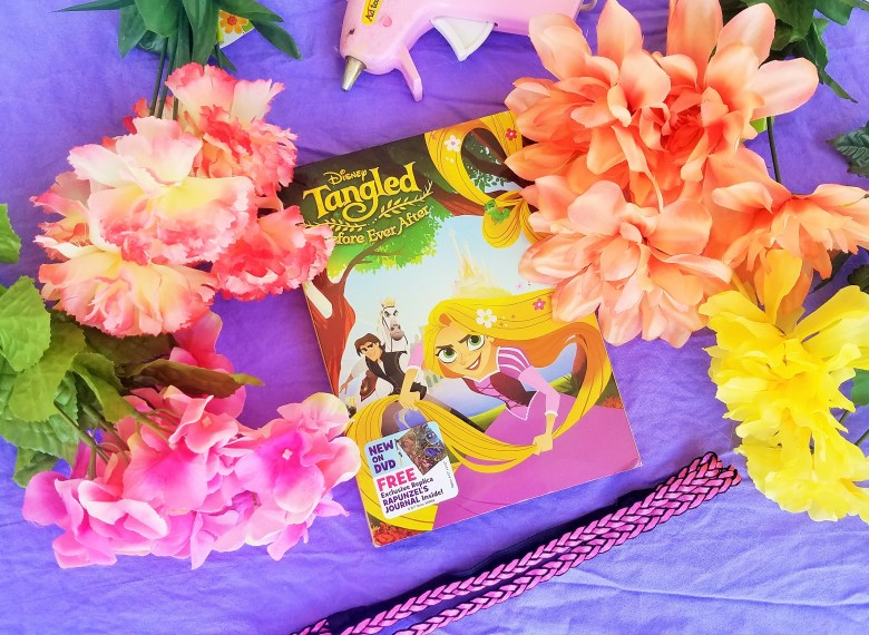 how to make rapunzel flowercrown