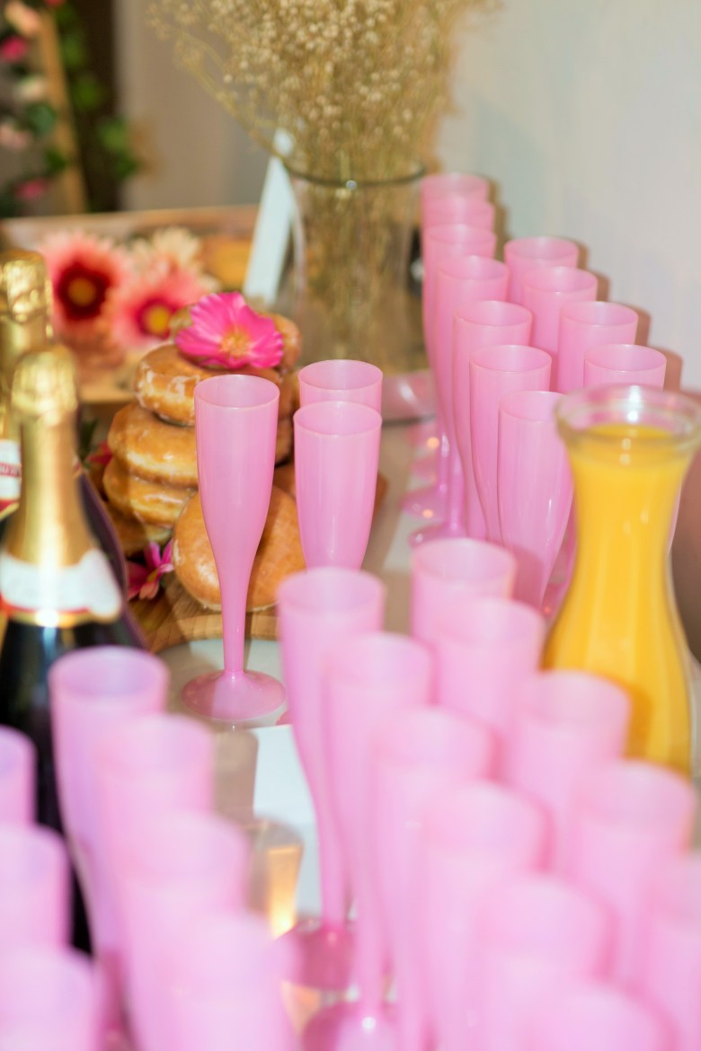 Pink Champagne Flutes