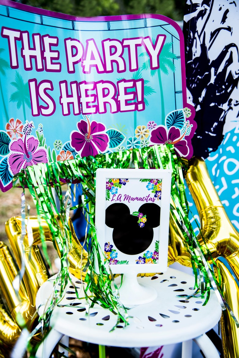 Minnie Mouse Luau Party
