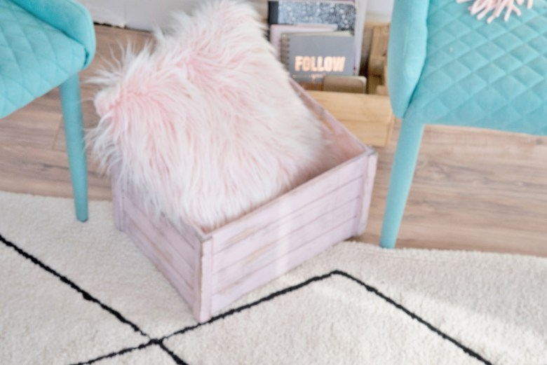Pink and Teal Home Office Decor