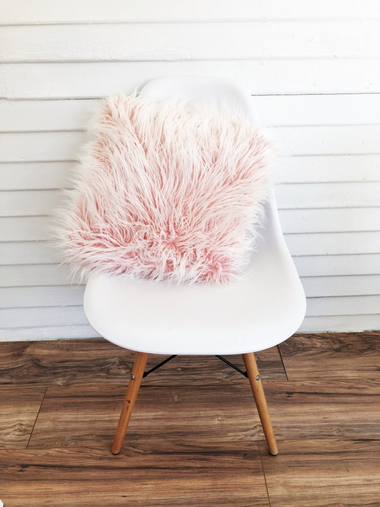 Pink home office pillow
