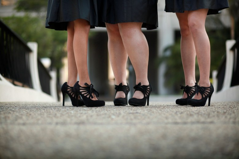 Black Vintage Bridesmaids Shoes