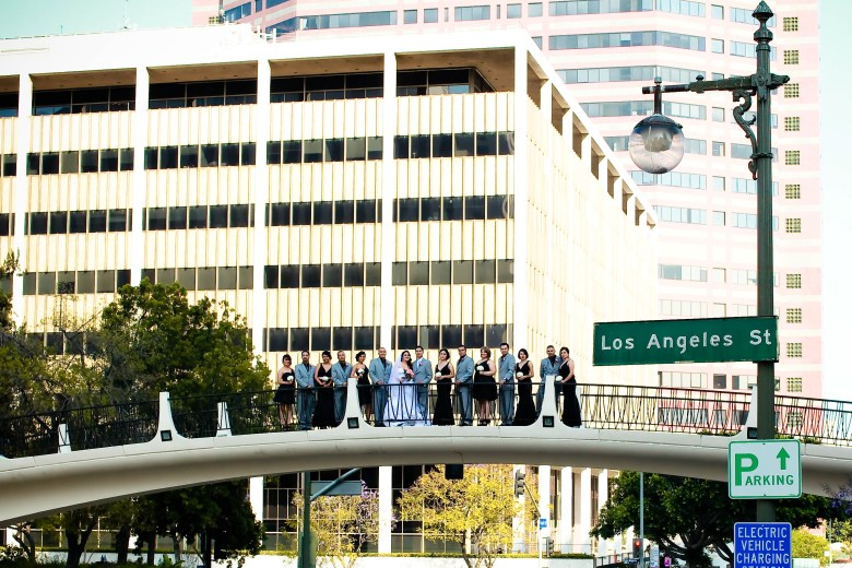 Los Angeles Theme Wedding Party Picture