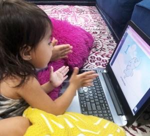 baby learning spanish