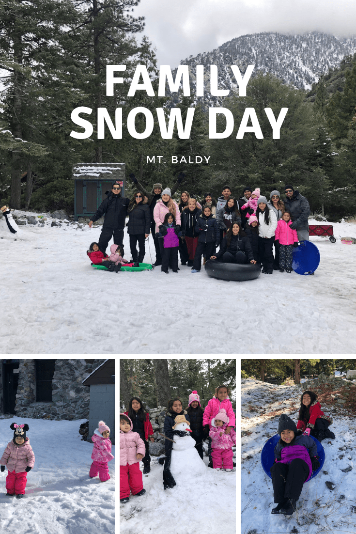 Family Snow Day in LA