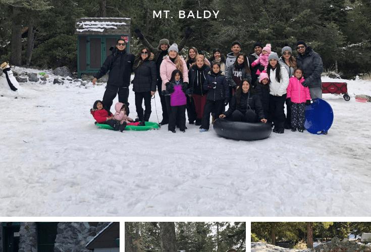 Family Snow Day in LA