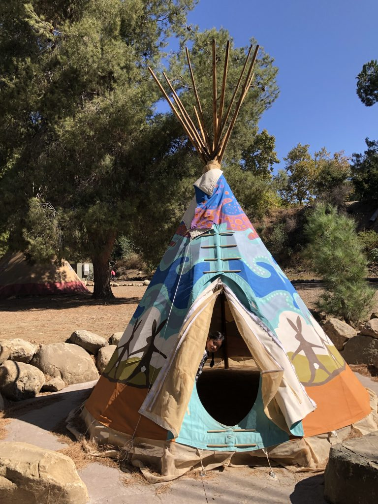 Glamping in a teepee
