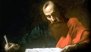 L'apôtre Paul lisant la bible