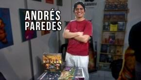 Andrés Paredes en un stand de la feria del libro