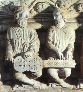Organistrum duPorche de la Gloire(XIIe siècle)Cathédrale de Saint-Jacques-de-Compostelle(Espagne) Source: http://www.organistrum.com/