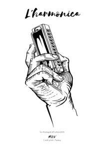 Coloriage harmonica