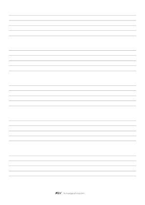 Papier a musique portée grosses lignes
