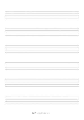 Papier a musique portée lignes moyennes