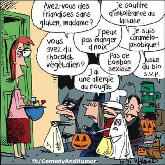 Halloween humour sans gluten