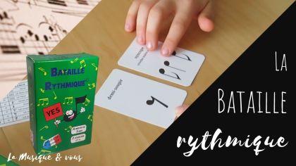Bataille rythmique jeu de cartes musique solfège