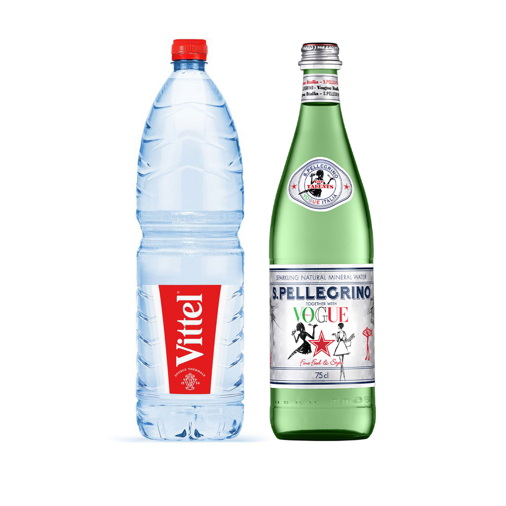 Eau Vittel / San Pellegrino (bouteille)