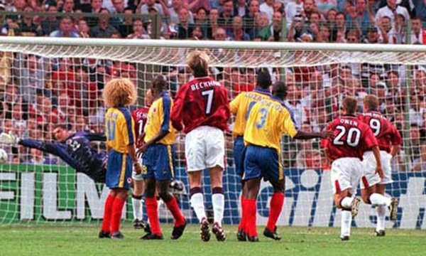 Image result for inglaterra vs colombia 1998