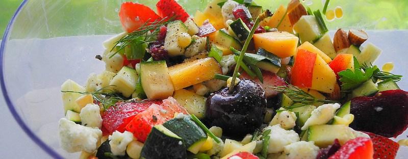 fruits et légumes - salade composée