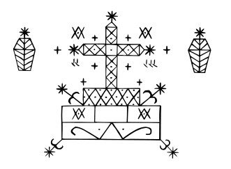 Veve Baron Samedi By chris, This vector image was created with Inkscape. ((various) drawn by hand, scanned and vectorised) [Public domain], via Wikimedia Commons
