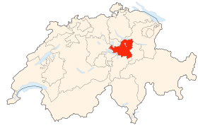 Carte du canton de Schwytz