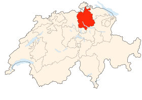 Carte du canton de Zurich