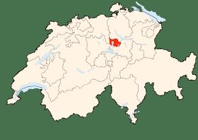 Carte de Zoug