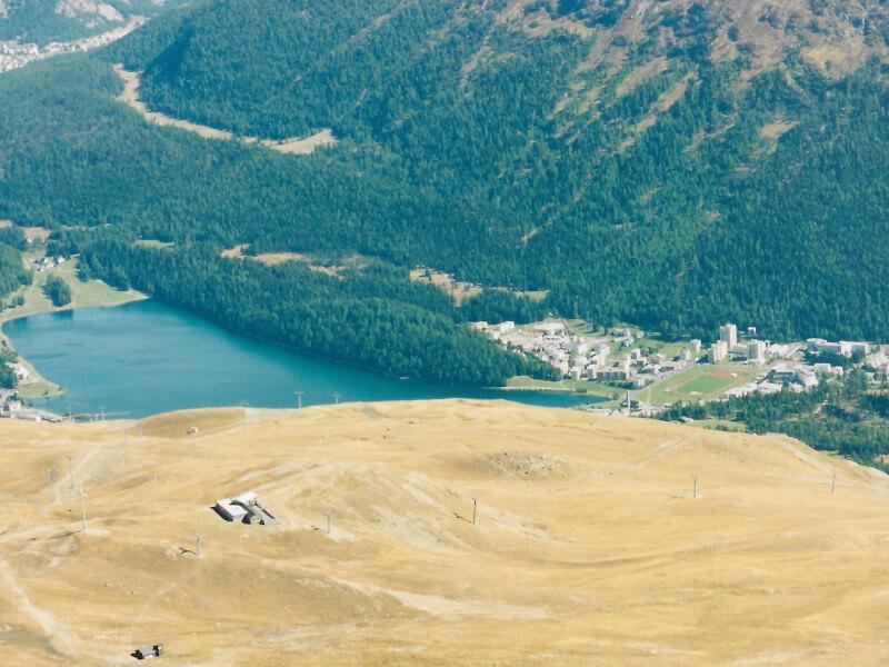 Le lac de Saint Moritz depuis le téléphérique