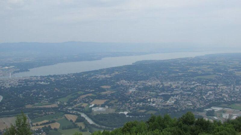 Le lac Léman vue depuis le Salève