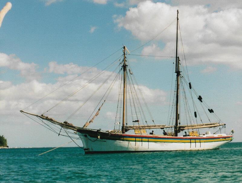 Le voilier l'Isla Mauritia