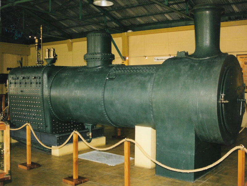 Une locomotive au musée du thé