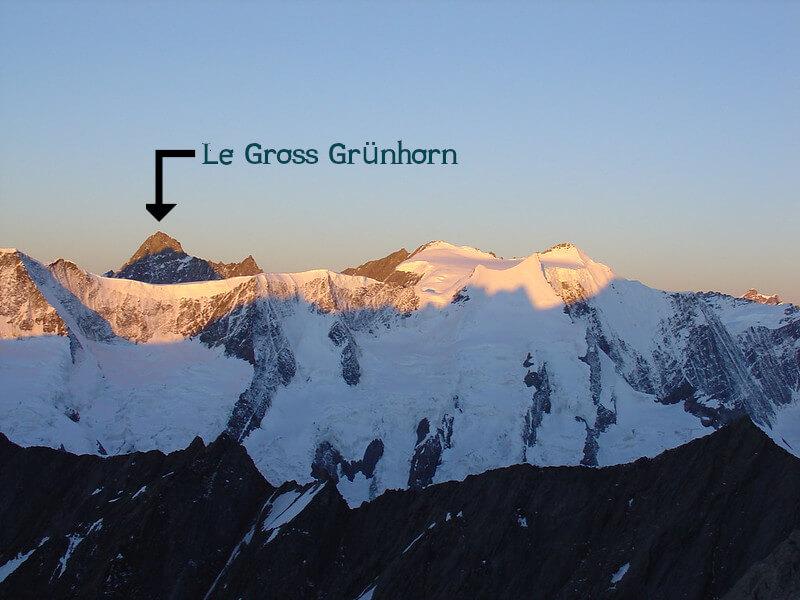 Le sommet du Gross Grünhorn