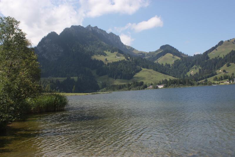 Le lac Noir dans le canton de Fribourg