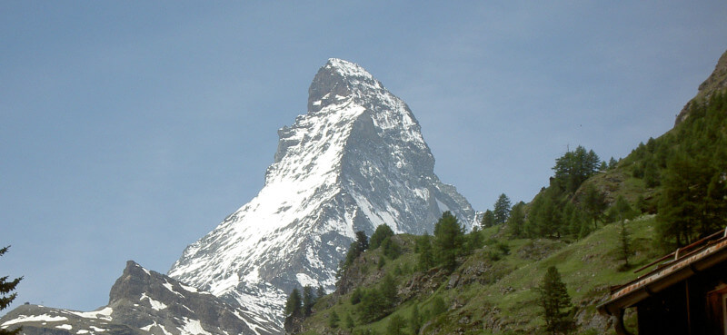 Photo du Cervin vue depuis Zermatt