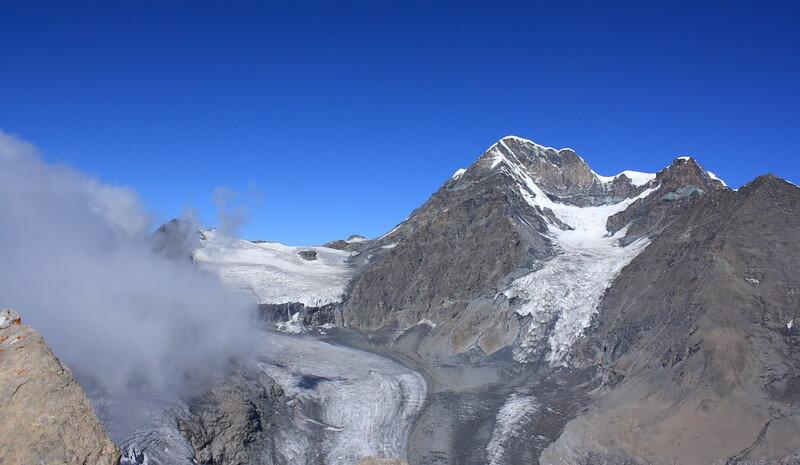 Le massif du Grand Combin - vue du nord-ouest