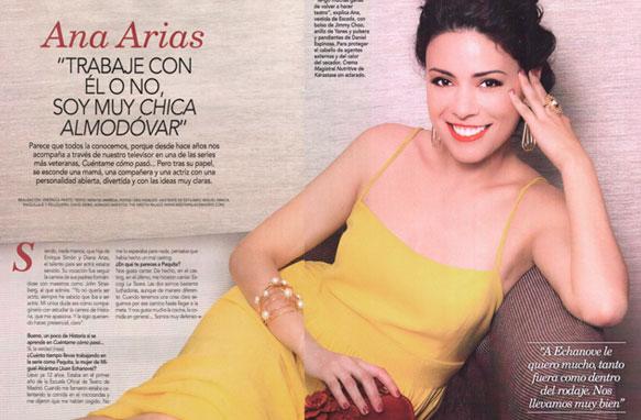 Ana Arias en la revista Love con joyas de Daniel Espinosa