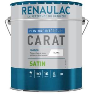 Carat satin Renaulac Peinture satinée garnissante à base de résine acrylique en phase aqueuse. Travaux de finition B.